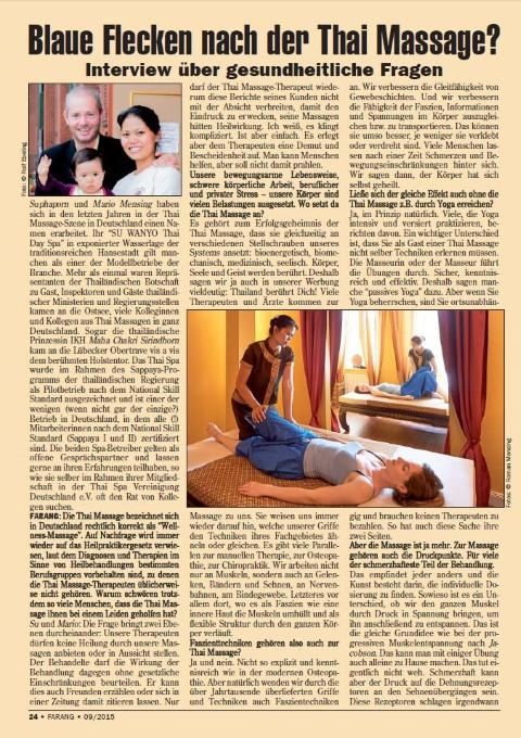 Farang-Interview: Blaue Flecken nach der Thai Massage ? (09-2015)