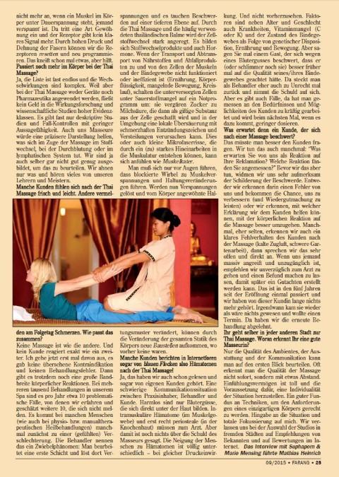 Farang-Interview: Blaue Flecken nach der Thai Massage ?