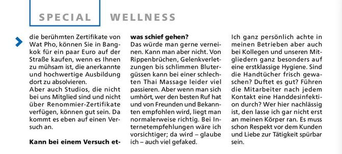 Interview Thai Massage mit Techinee Hubold Stadtmagazin Ultimo 2